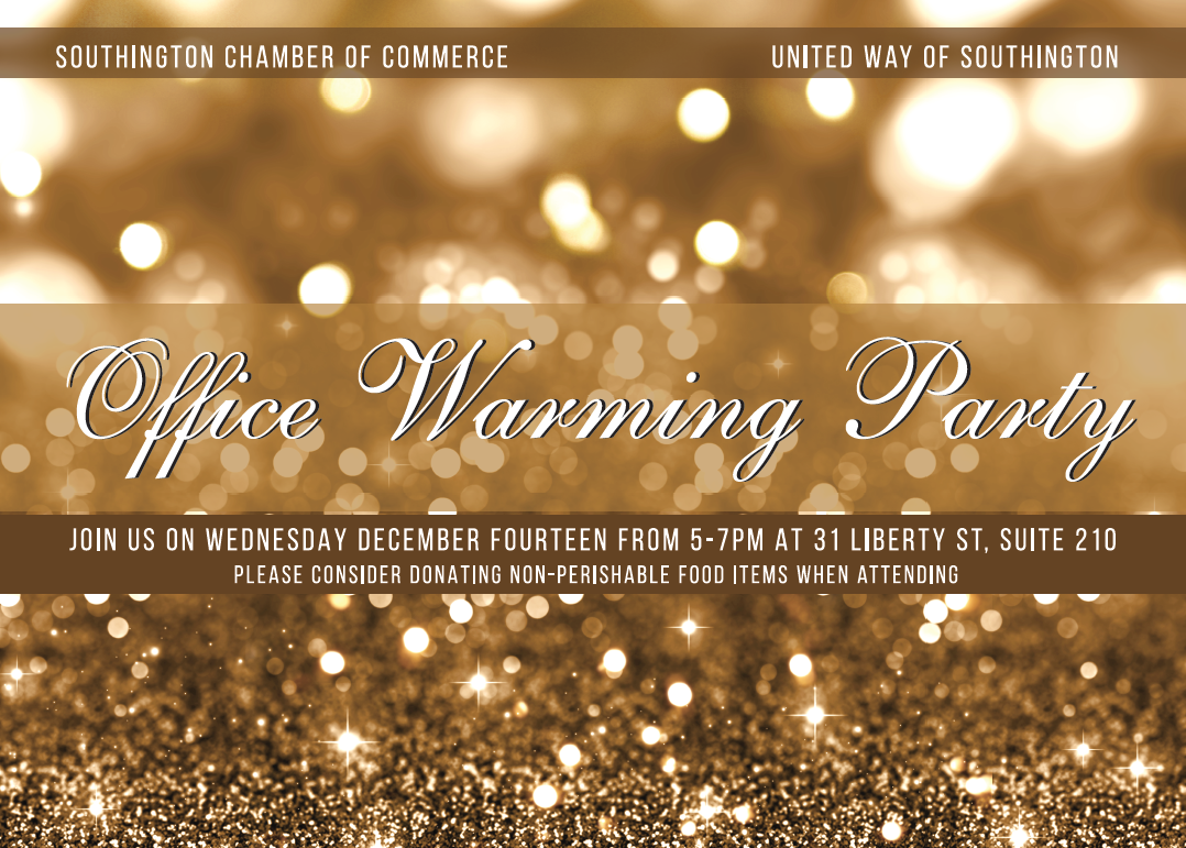 Southington Chamber/United Way New Office Warming Holiday Party